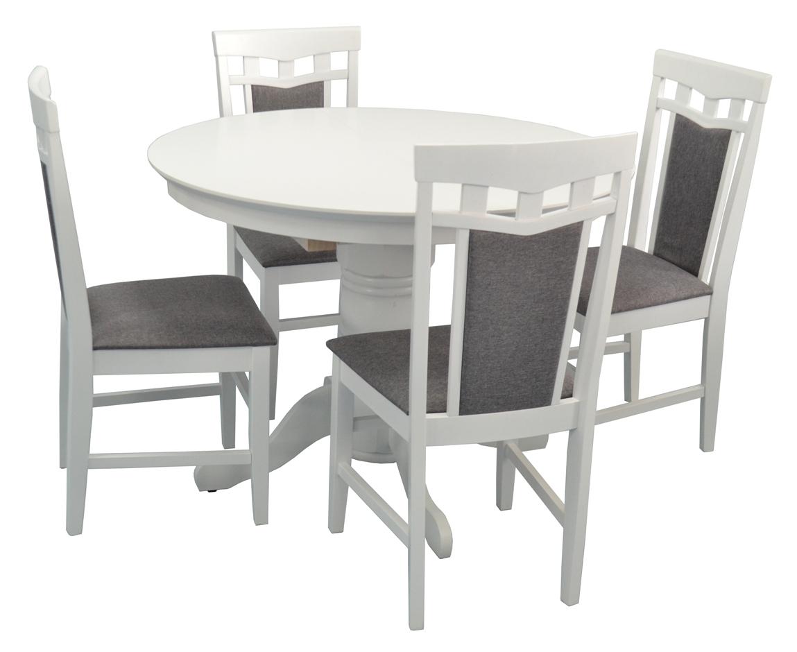 Стол Capella-V White + 4 Стула Deepa-R White/NV-10WP