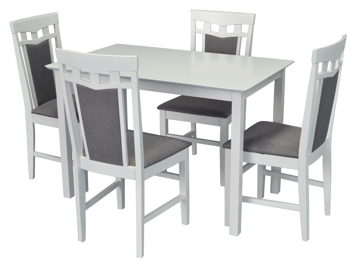 Стол Gloria White + 4 Стула Deepa-R White/NV-10WP