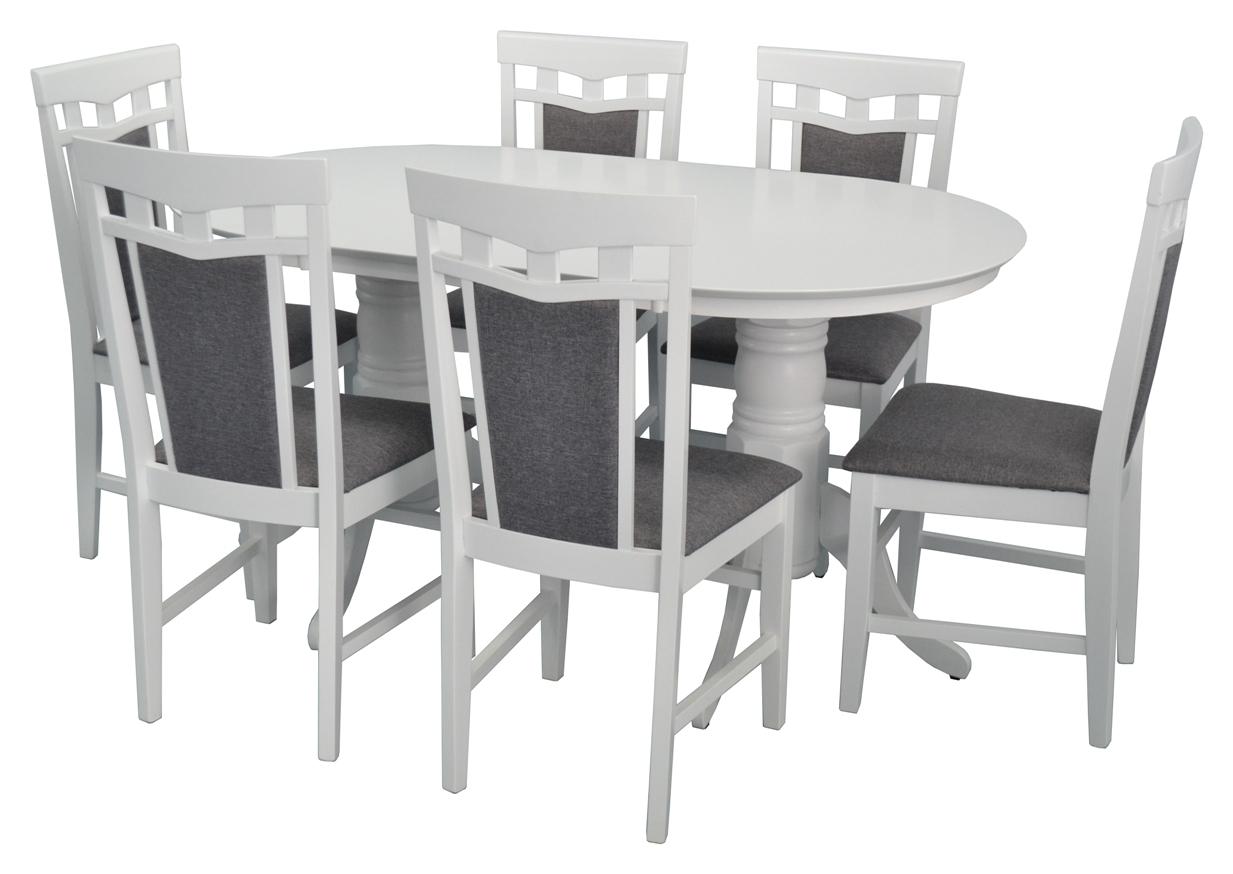 Стол HV-24V White + 6 Стульев Deepa-R White/NV-10WP